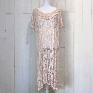 NWT JS Millenium Blush Crochet Cover-Up/Over Dress